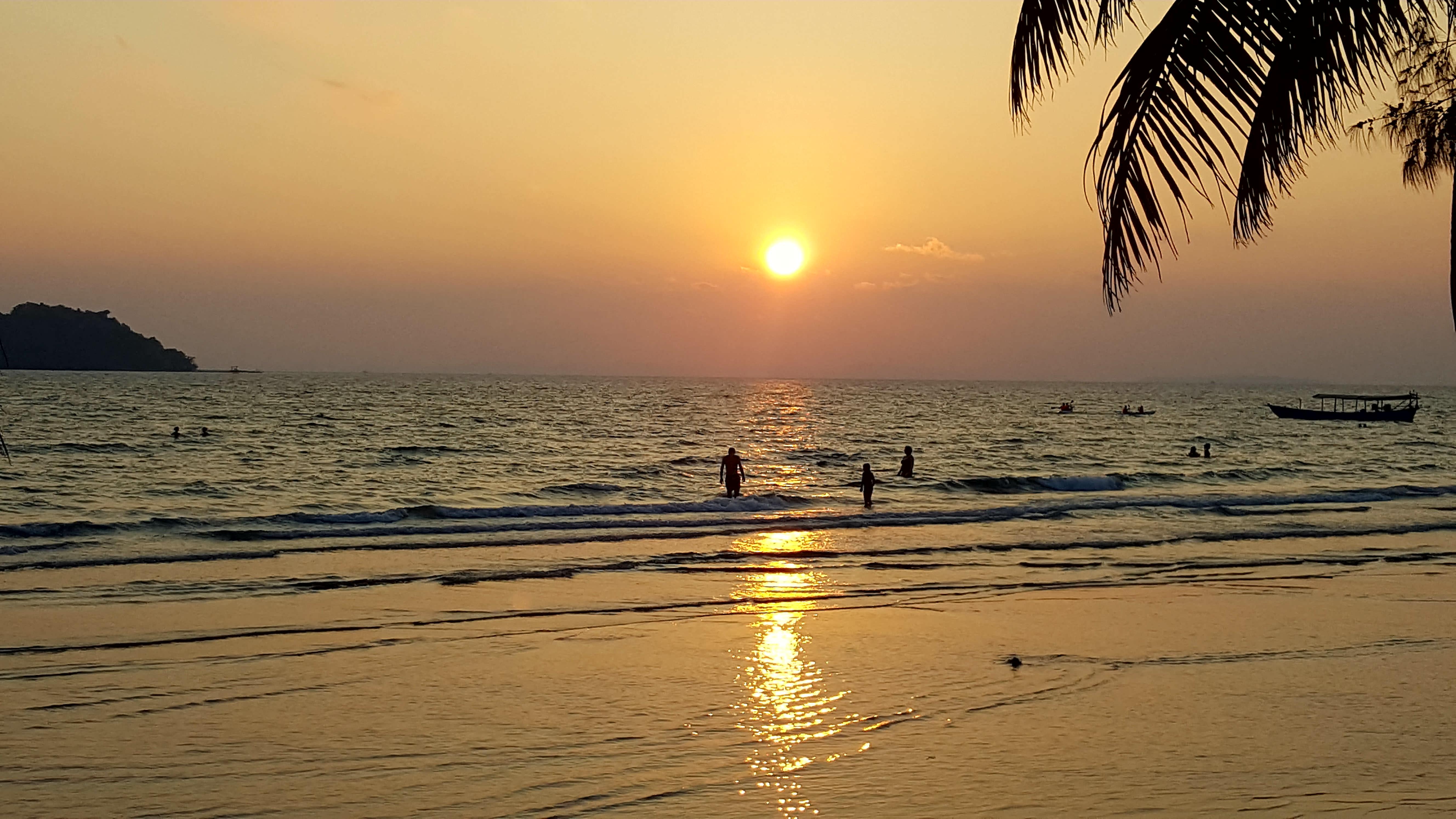 Cambogia tramonto a Sihanoukville