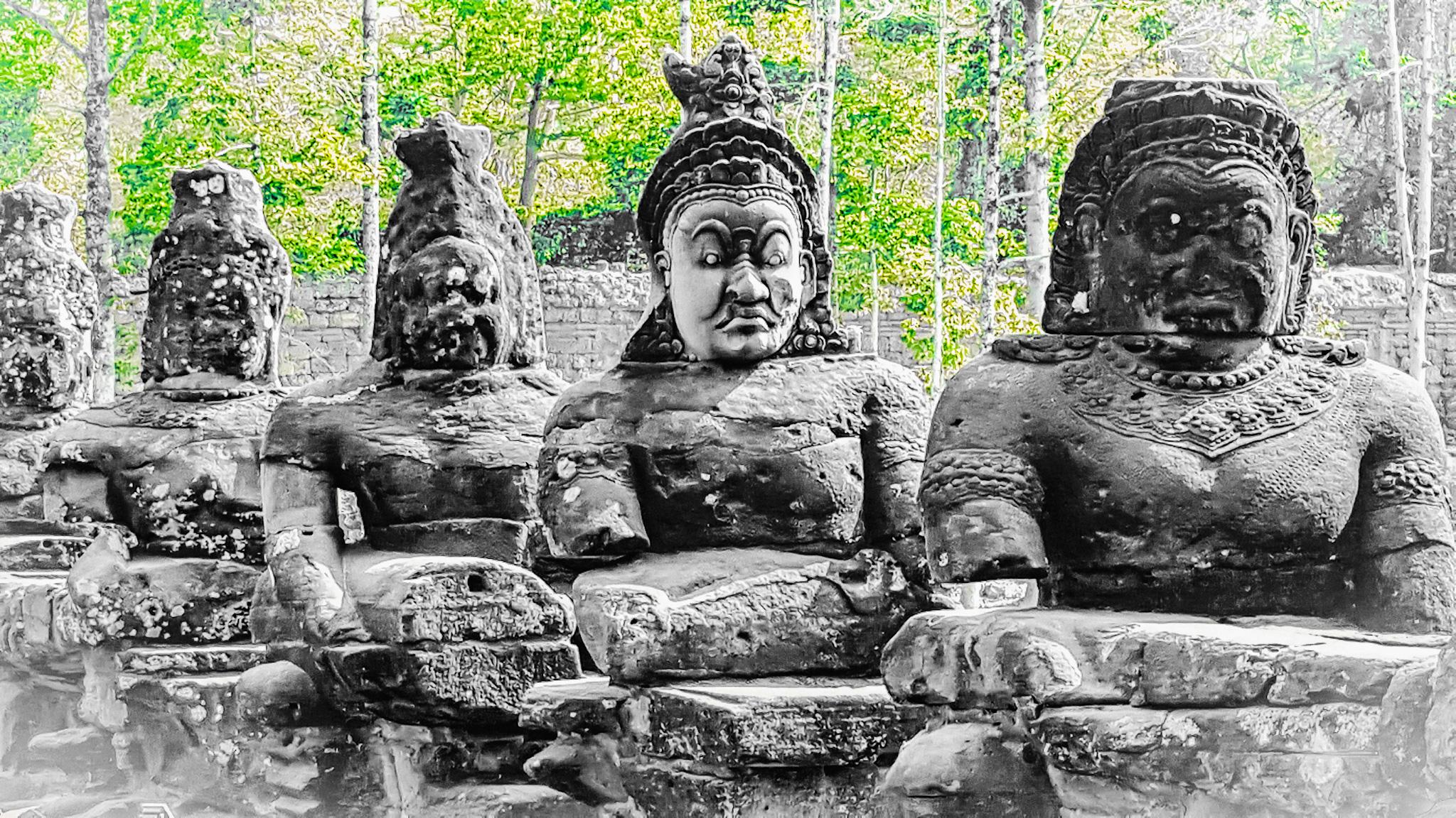 Cambogia statue Siem Reap