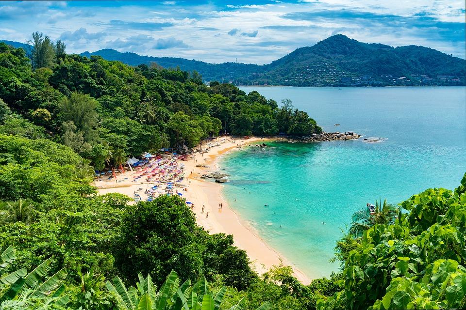 Veduta mare isole della Thailandia