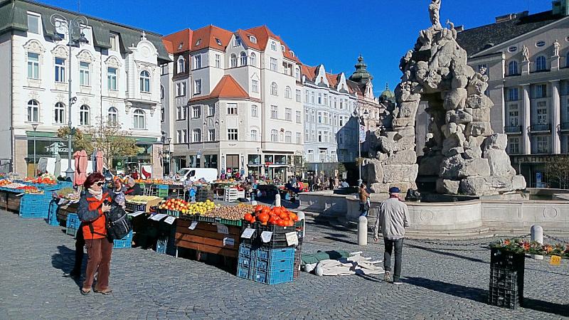 Piazza del mercato di Brno