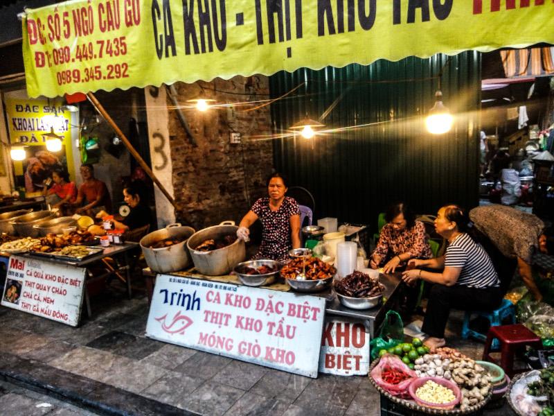 Mercato alimentare Hanoi