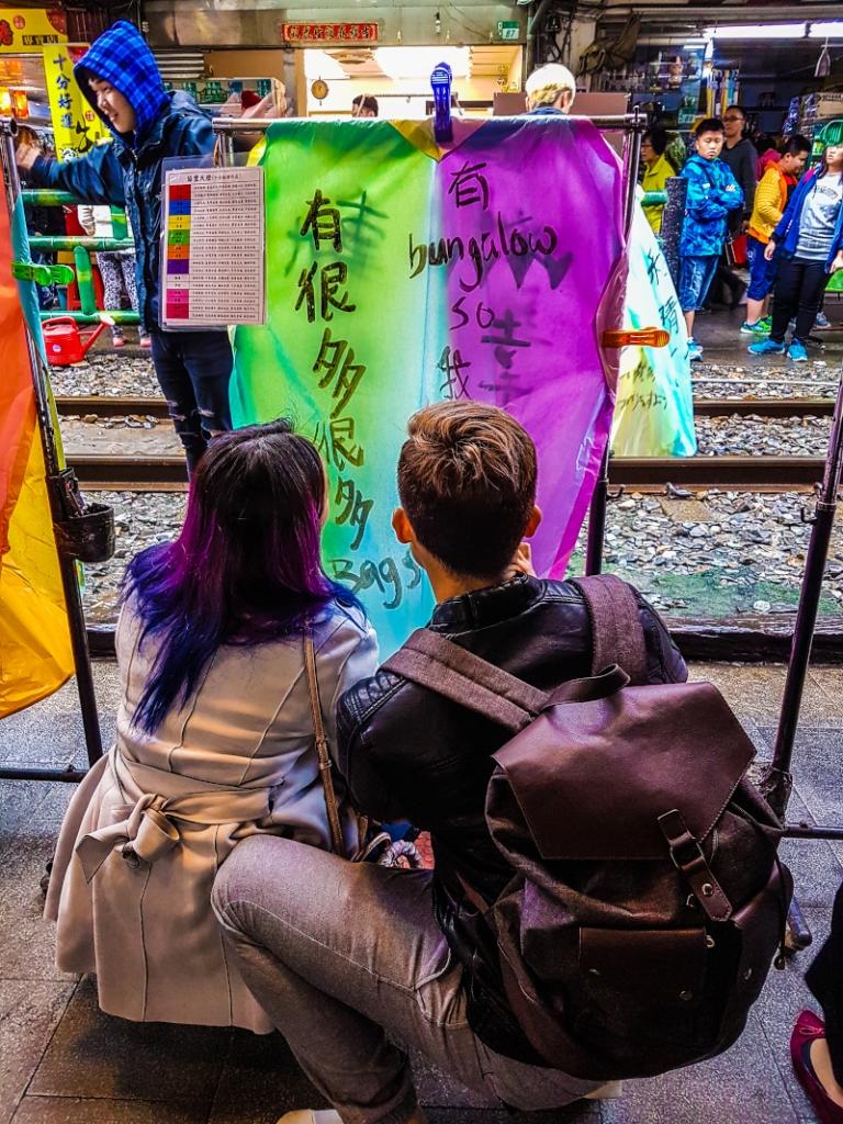 Taiwan-Taipei-sui-binari-della-Pingxi-Line.
