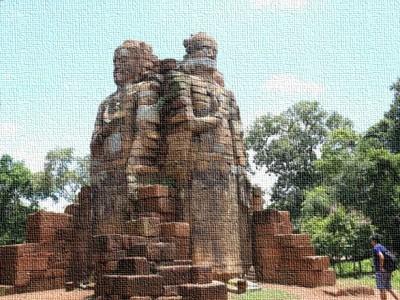 Provincia di Preah Vihear in Cambogia e le antiche statue di Buddha