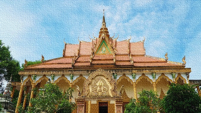 Vietnam, Provincia di An Giang e la pagoda colorata