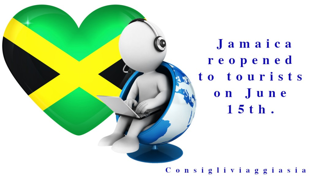 Jamaica reopened to tourists on June 15th.