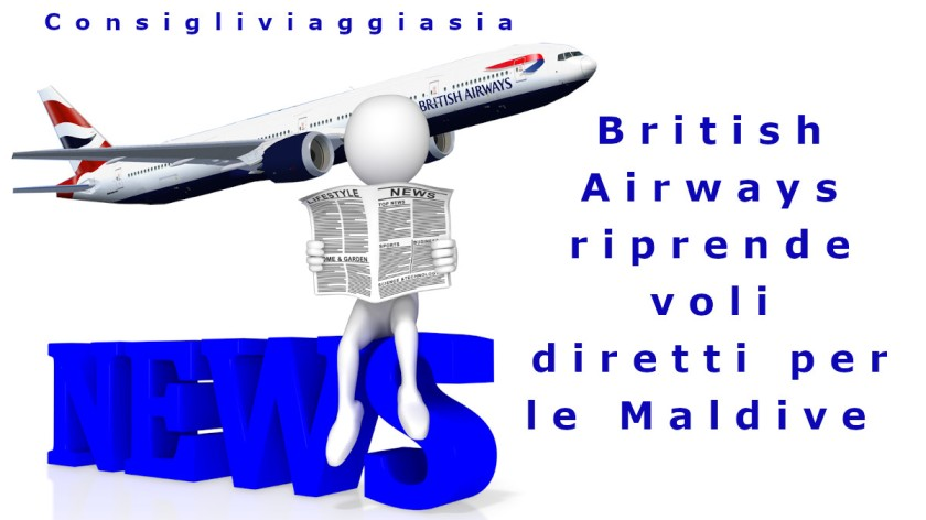 British Airways riprende voli diretti per le Maldive