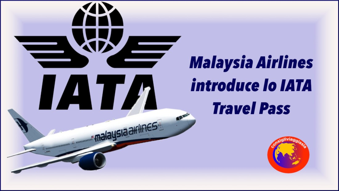 Malaysia Airlines introduce lo IATA Travel Pass